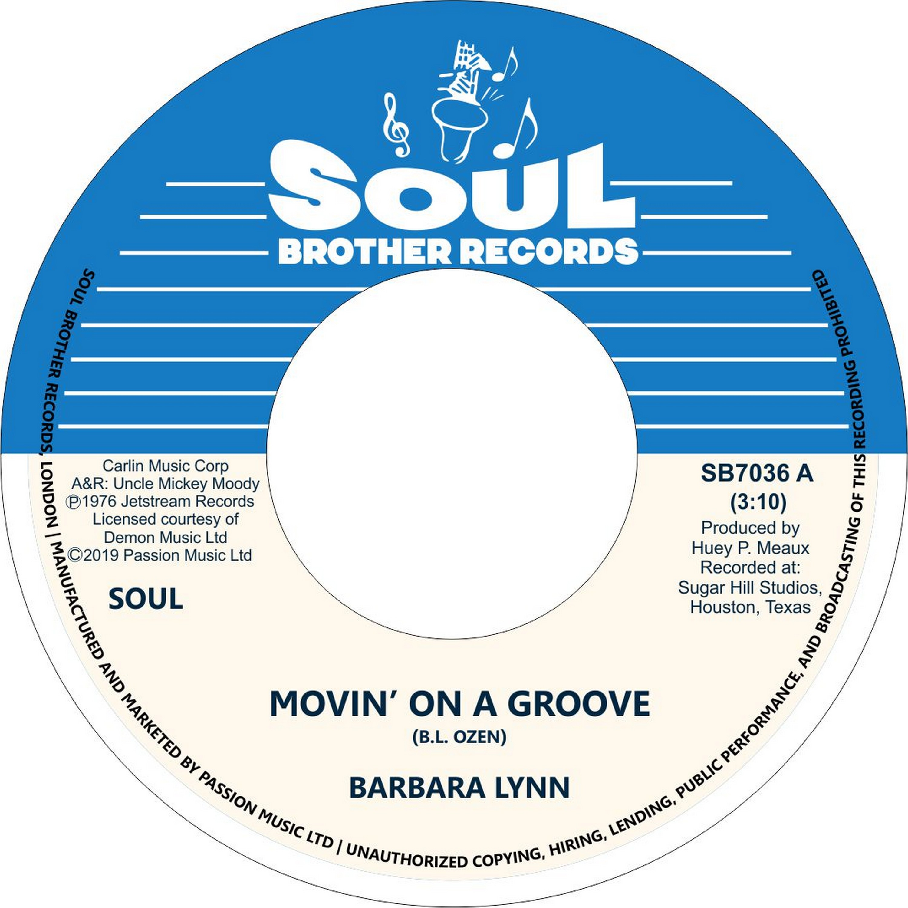 Barbara Lynn/MOVIN' ON A GROOVE 7""