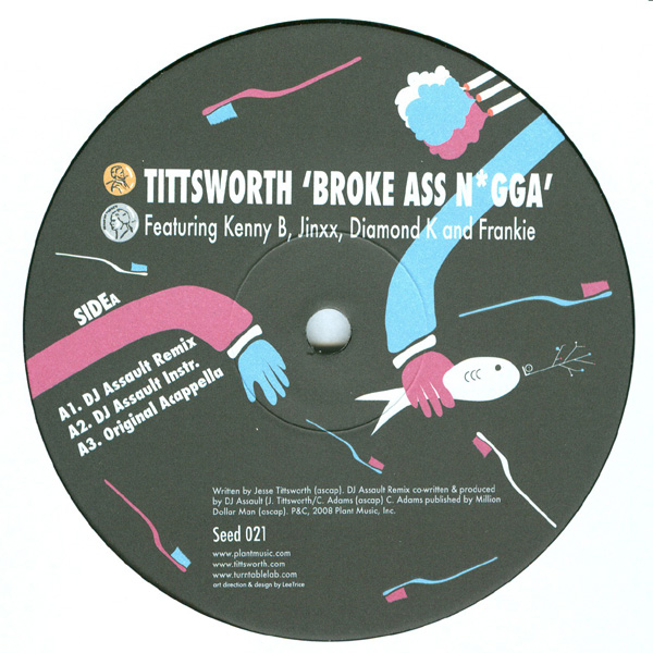 Tittsworth/BROKE ASS N*GGA 12""