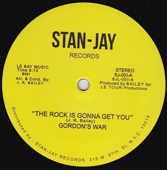 """Gordon's War/THE ROCK IS GONNA GET 12"""""""
