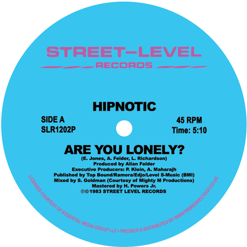 "Hipnotic/ARE YOU LONELY? (ORIGINAL) 12"""