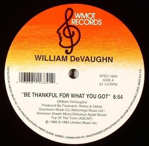 "William Devaughn/BE THANKFUL FOR... 12"""