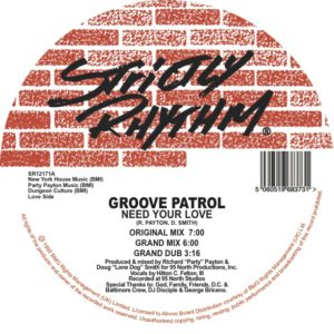"""Groove Patrol/NEED YOUR LOVE 12"""""""