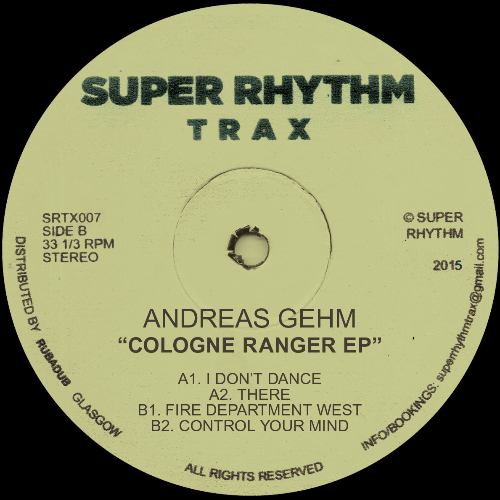 "Andreas Gehm/COLOGNE RANGER EP 12"""