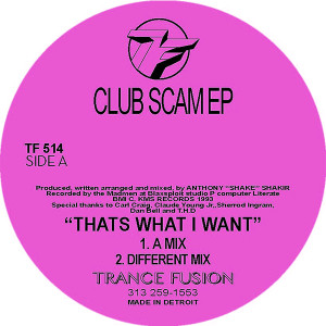 "Anthony Shake Shakir/CLUB SCAM EP 12"""