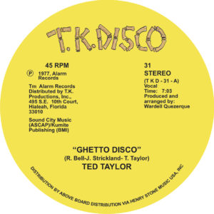 Ted Taylor/GHETTO DISCO 12""