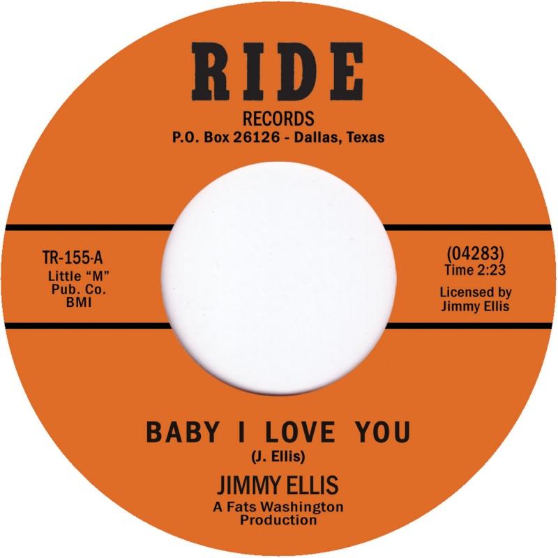 "Jimmy Preacher Ellis/BABY I LOVE YOU 7"""