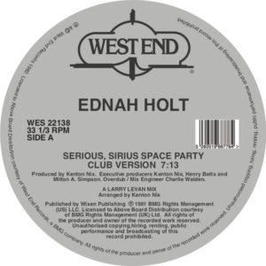 """Ednah Holt/SERIOUS, SIRIUS SPACE... 12"""""""