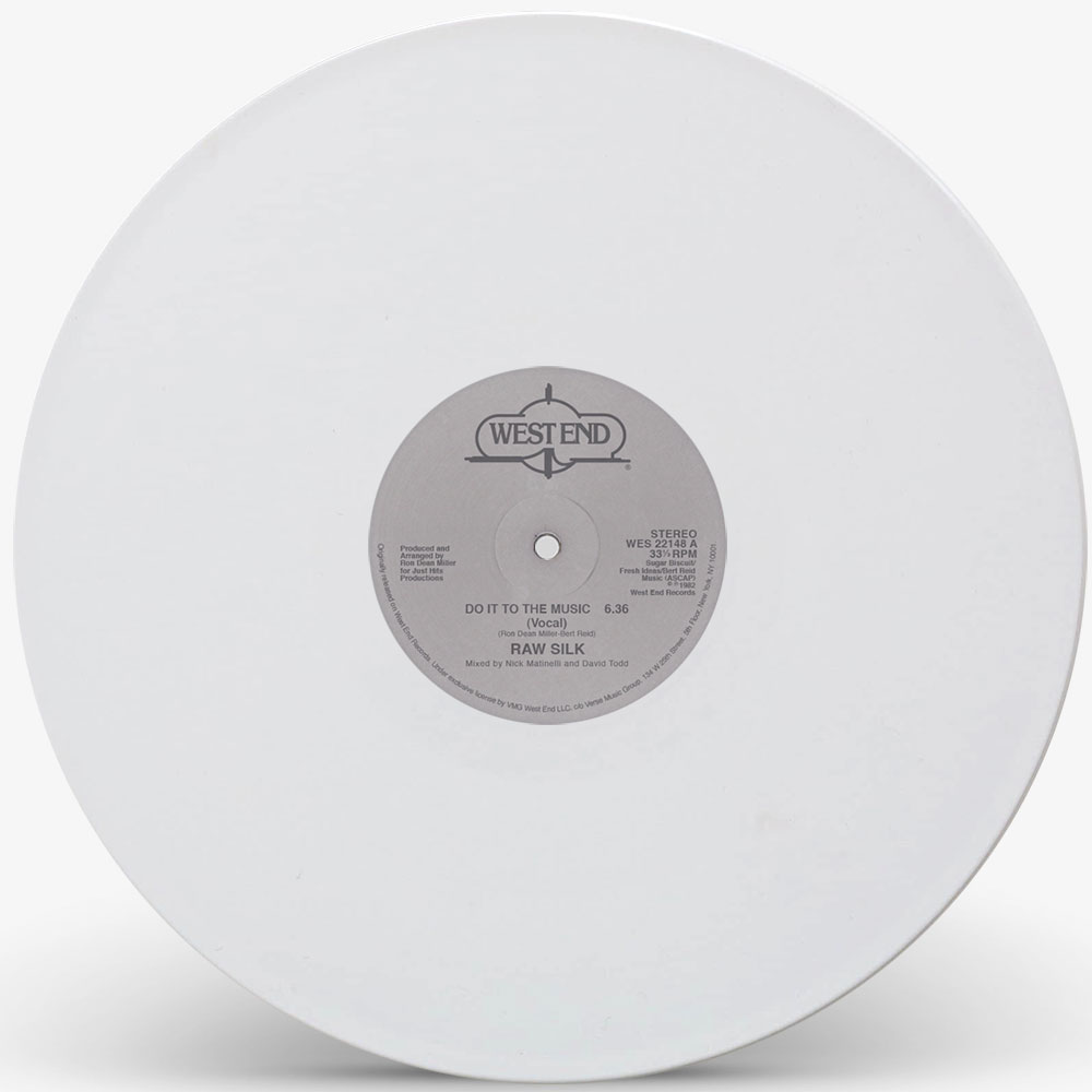 """Raw Silk/DO IT TO THE MUSIC (WHITE) 12"""""""