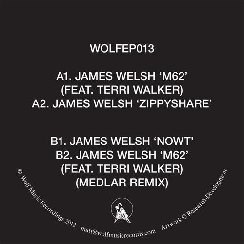 "James Welsh/M62 - MEDLAR REMIX 12"""