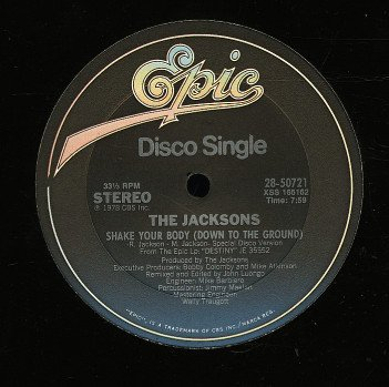 """Jacksons, The/SHAKE YOUR BODY 12"""""""