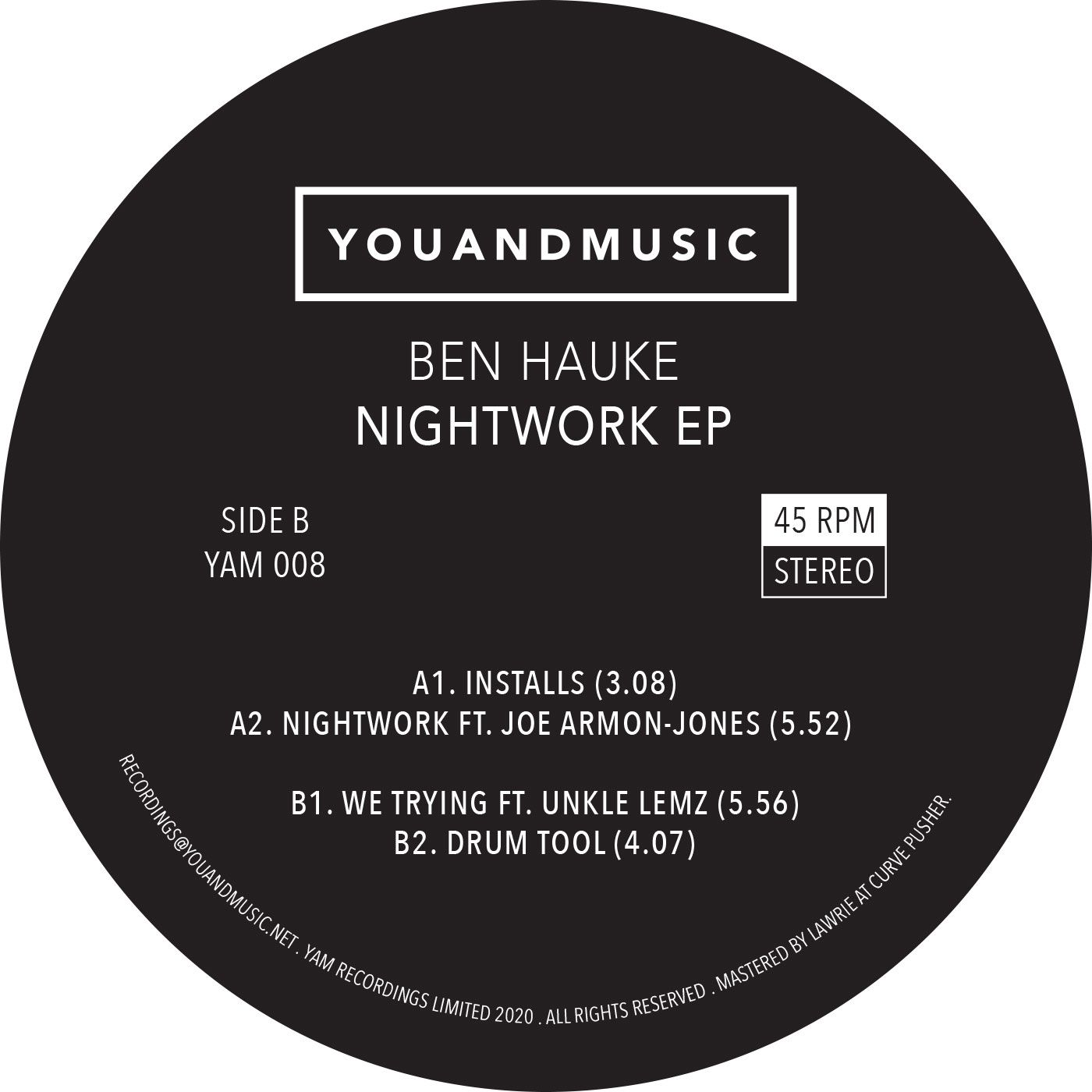 Ben Hauke/NIGHTWORK EP 12""