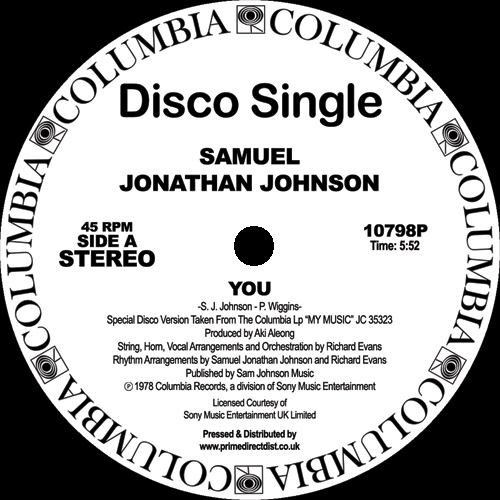 Samuel Jonathan Johnson/YOU 12""