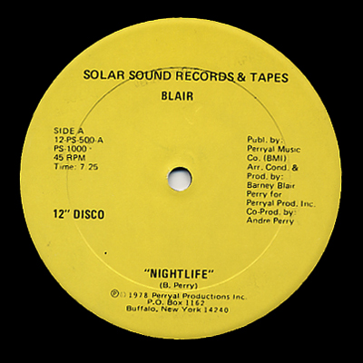 "Blair/NIGHTLIFE (+ VIRGO ""PRINCESS"") 12"""
