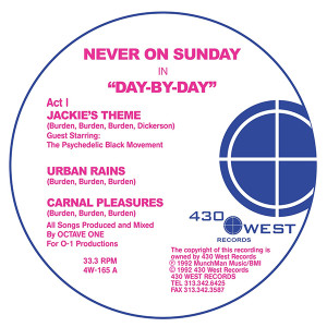 Never On A Sunday/DAY BY DAY EP 12""
