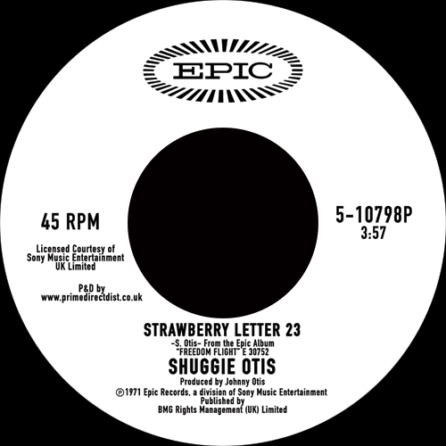 Shuggie Otis/STRAWBERRY LETTER 23-RSD 7""