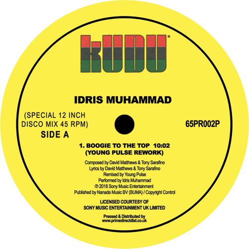 Idris Muhammad/BOOGIE (YOUNG PULSE) 12""