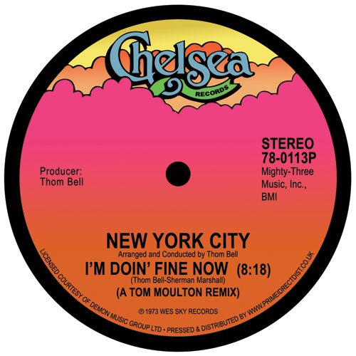 New York City/I'M DOIN' FINE NOW 12""