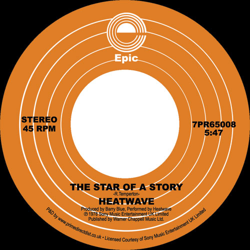 """Heatwave/THE STAR OF A STORY 7"""""""