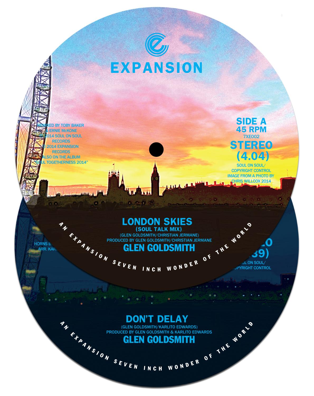 """Glen Goldsmith/LONDON SKIES 7"""""""