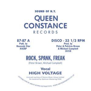 "High Voltage/ROCK, SPANK, FREAK 12"""