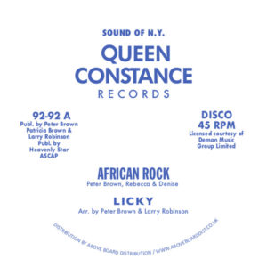 Licky/AFRICAN ROCK 12""
