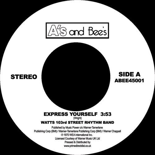 Watts 103rd Street/EXPRESS YOURSELF 7""