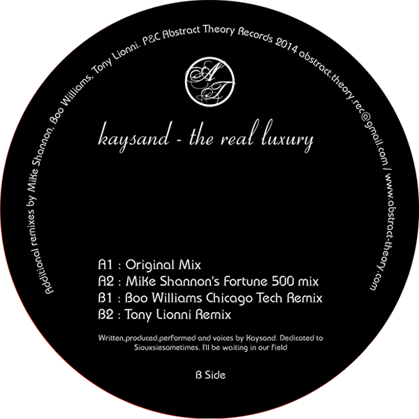 Kaysand/REAL LUXURY-BOO WILLIAMS RMX 12""