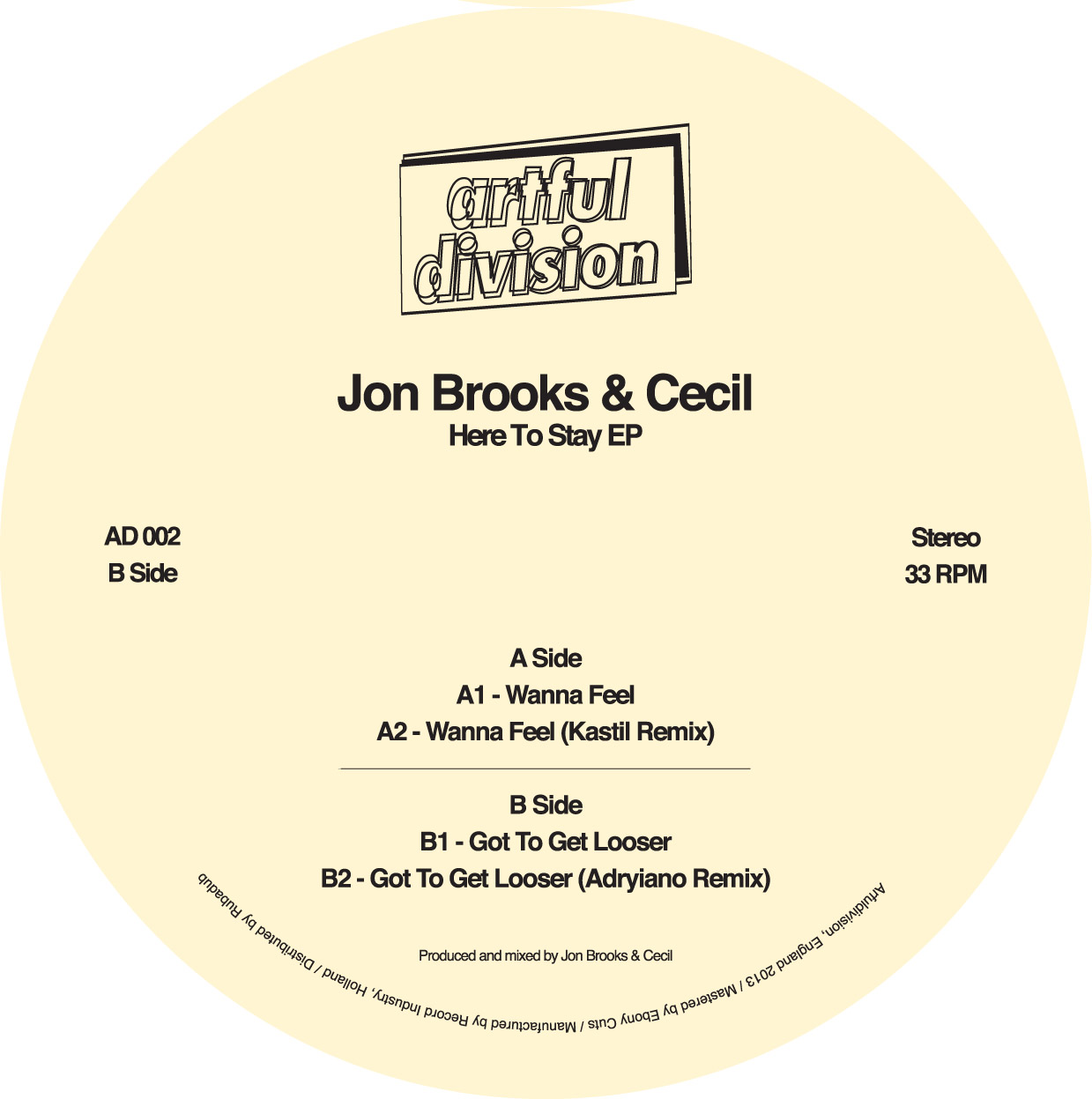 John Brooks & Cecil/HERE TO STAY EP 12""