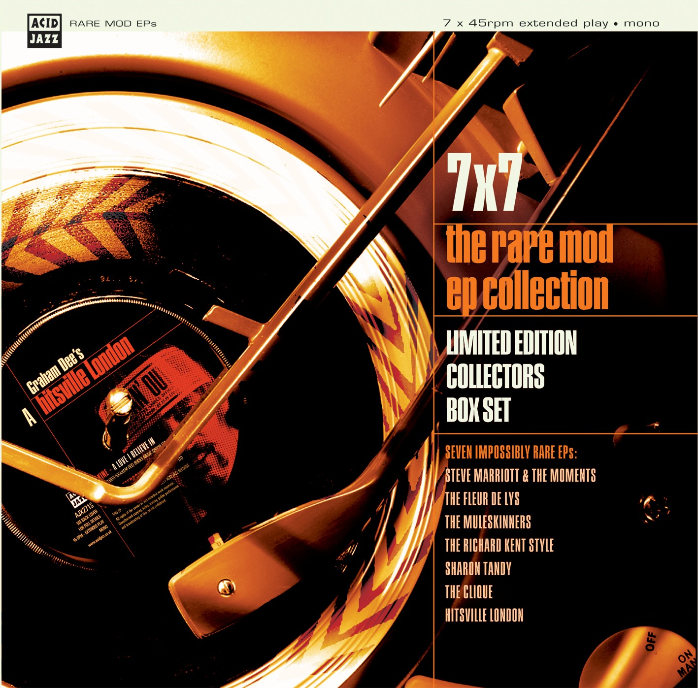 "Various/RARE MOD EP SINGLES BOX 7x7"""