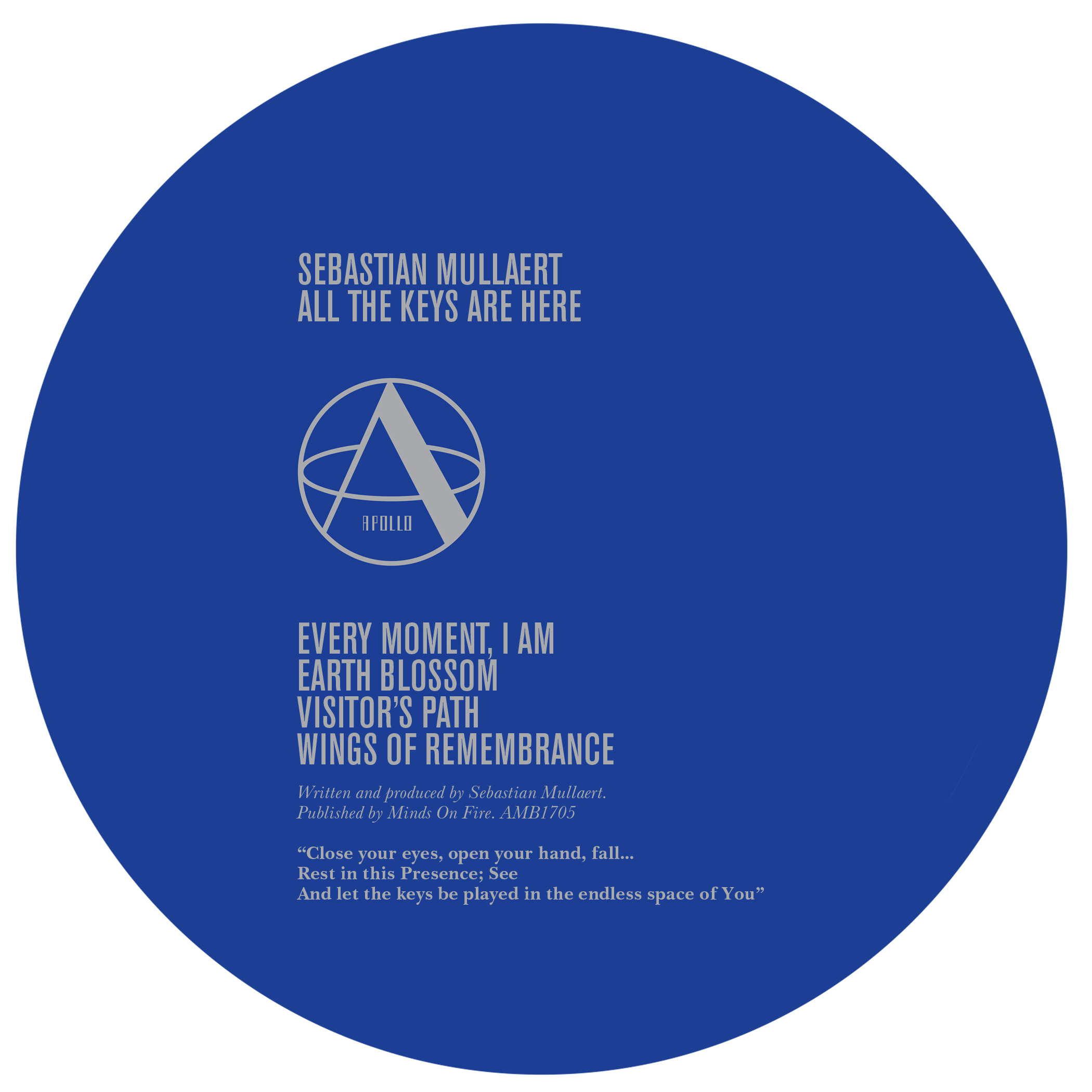 Sebastian Mullaert/ALL THE KEYS... 12""