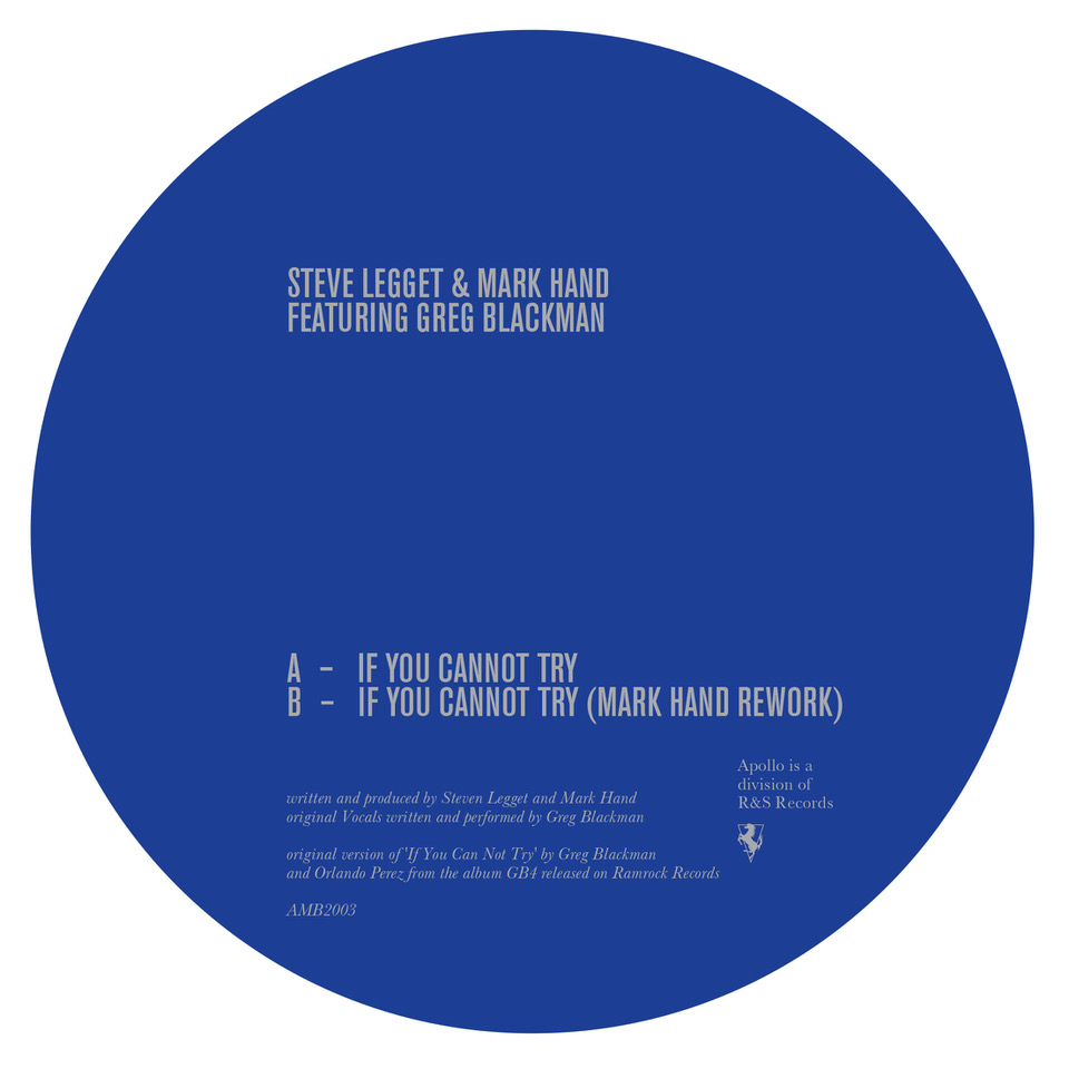 Steve Legget & Mark Hand/IF YOU... 12""