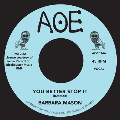 Barbara Mason/YOU BETTER STOP IT 7""