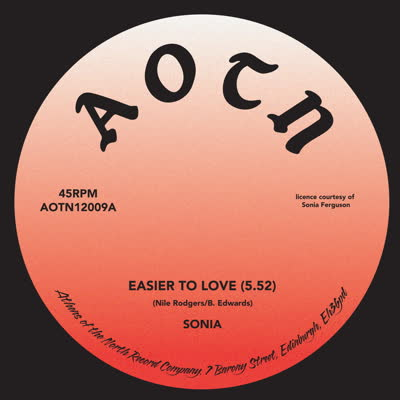 Sonia/EASIER TO LOVE (1-SIDED) 12""
