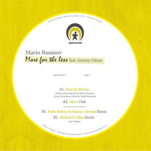 Mario Basanov/MORE FOR THE LESS 12""