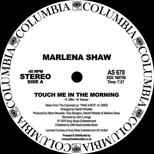 """Marlena Shaw/TOUCH ME IN THE MORNING 12"""""""