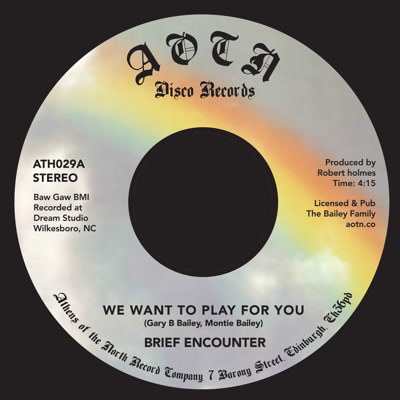 """Brief Encounter/WE WANT TO PLAY... 7"""""""