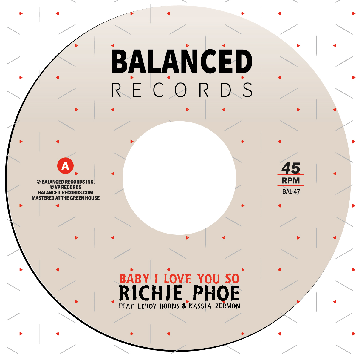 """Richie Phoe/BABY I LOVE YOU SO 7"""""""