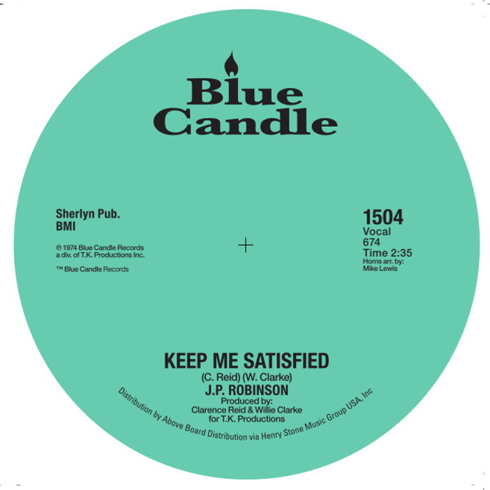J.P. Robinson/KEEP ME SATISFIED 7""