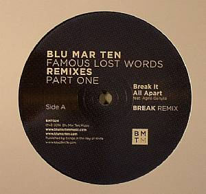 Blu Mar Ten/FAMOUS LAST WORDS RMX #1 12""
