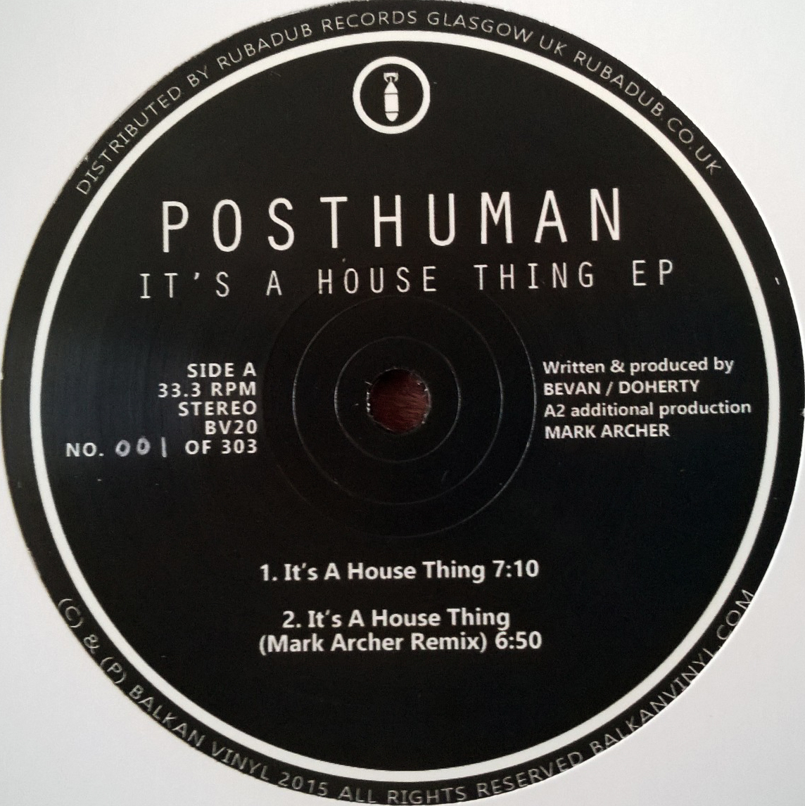 Posthuman/IT'S A HOUSE THING 12""