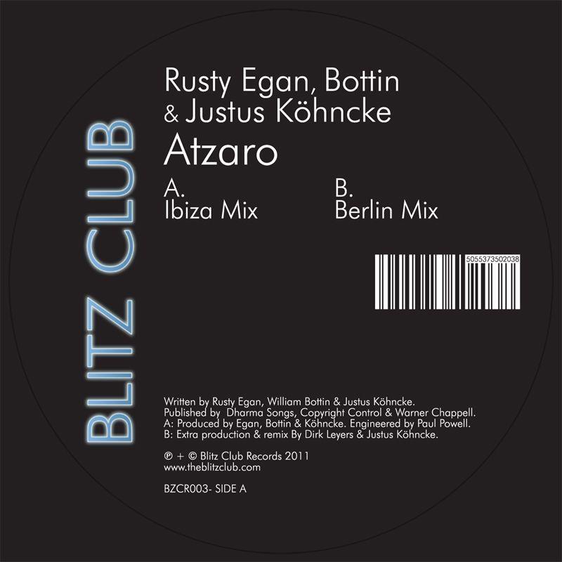"""Rusty Egan,J Kohncke & Bottin/ATZARO 12"""""""