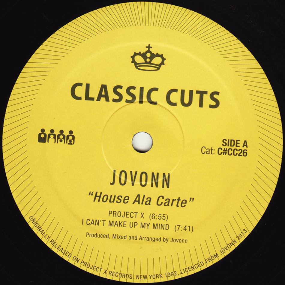 Jovonn/HOUSE ALA CARTE 12""