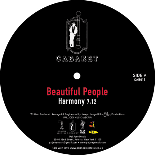 Beautiful People/HARMONY 12""