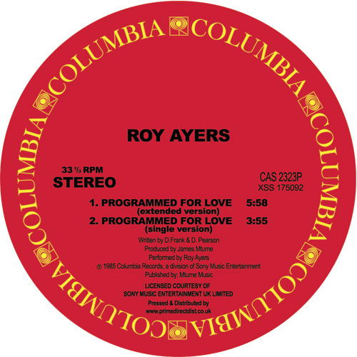 Roy Ayers/PROGRAMMED FOR LOVE 12""