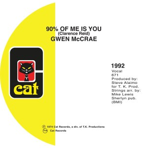 """Gwen McCrae/90% OF ME IS YOU 7"""""""