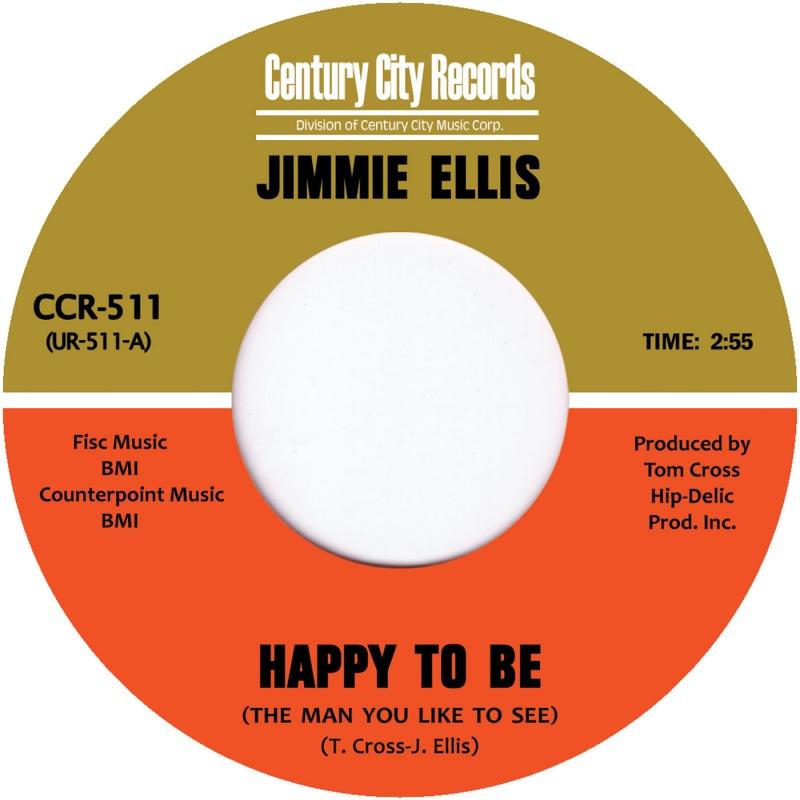 "Jimmie Preacher Ellis/HAPPY TO BE 7"""