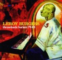Leroy Burgess/THROWBACK: HARLEM 79-83 CD