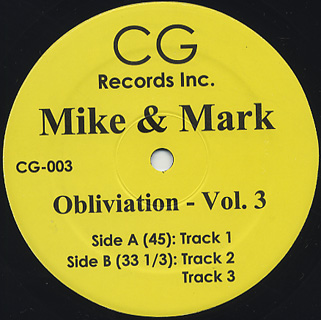 Mike & Mark/OBLIVIATION VOL 3 12""