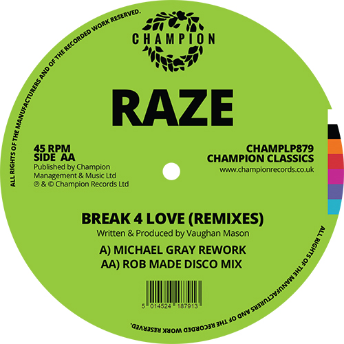 Raze/BREAK 4 LOVE (2020 REMIXES) 12""