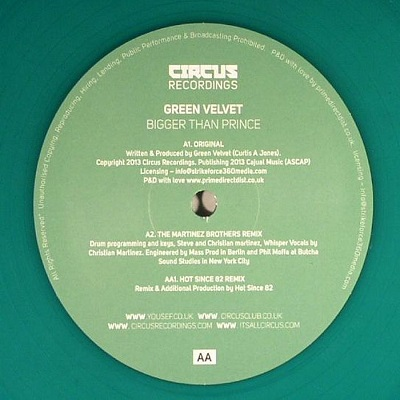 Green Velvet/BIGGER THAN PRINCE 12""